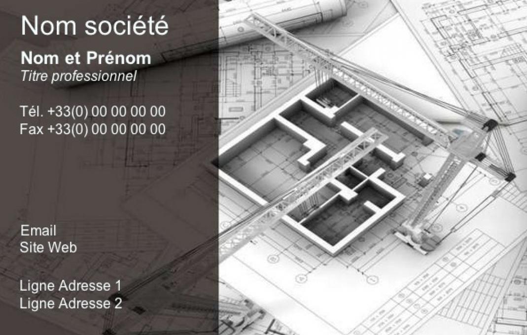 carte de visite construction b timent btp architecte