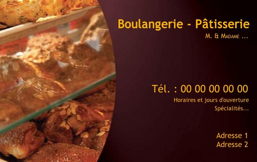 Boulangerie mod le carte de visite gratuit imprimer boutique - Carte tnt sat boulanger ...