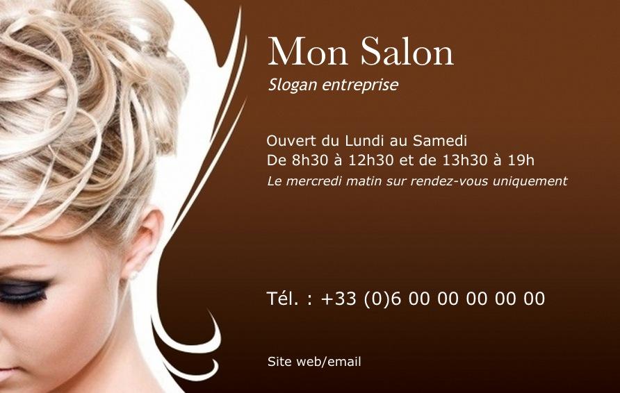 coiffeur carte de visite coiffure mod le professionnel