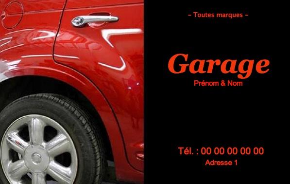 Carte de visite garage carrosserie mod le gratuit imprimer for Garage de peinture automobile