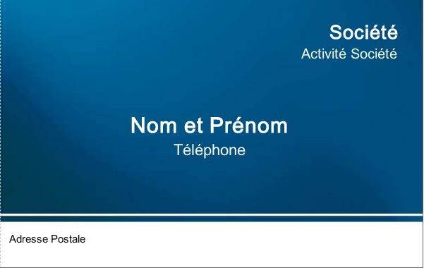 Carte de visite professionnelle mod le gratuit personnaliser bleu fonc - Carte de visite gratuite sans frais de port ...