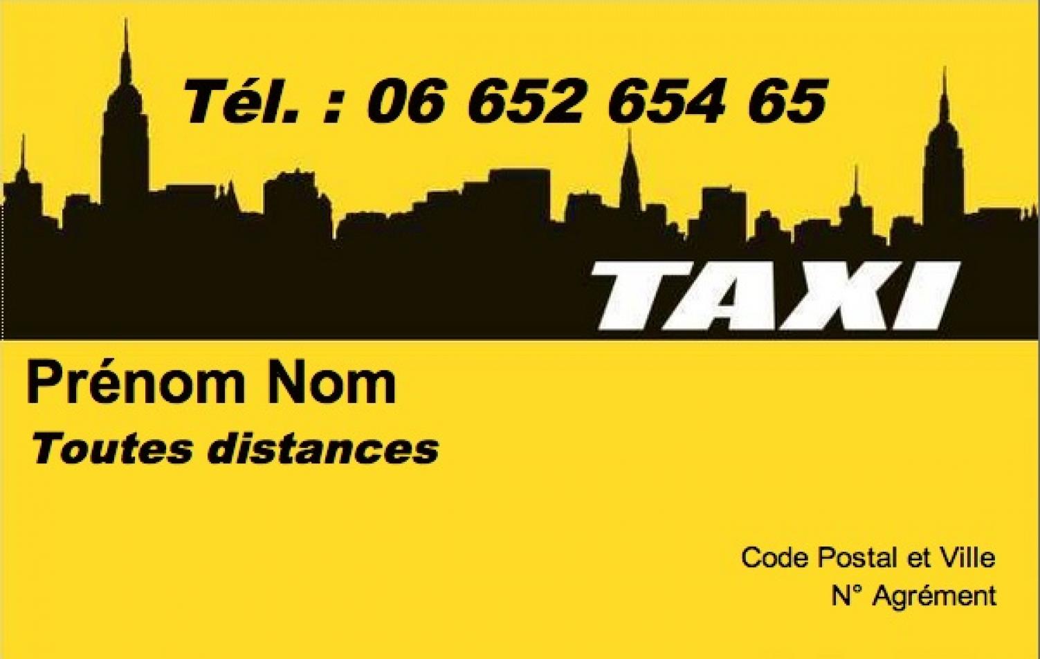 Carte De Visite Taxi Mod Le Gratuit Imprimer Fond Gratuite Sans Frais Port