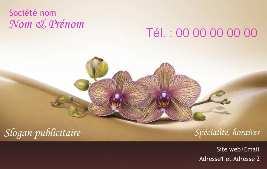 Modele Carte De Visite Gratuit Bien Etre Massage Et Soin