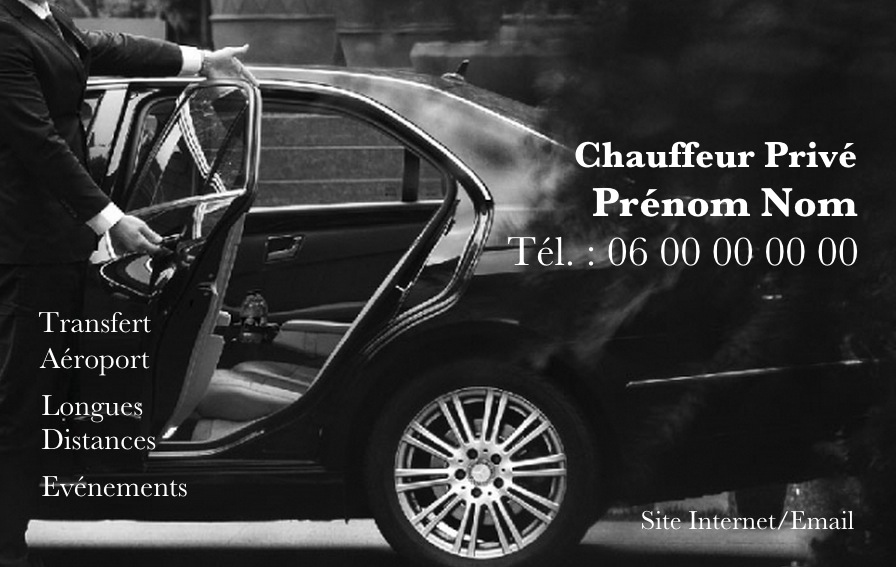 taxi et affaires  carte chauffeur taxi  mod u00e8le gratuit carte de visite professionnelle