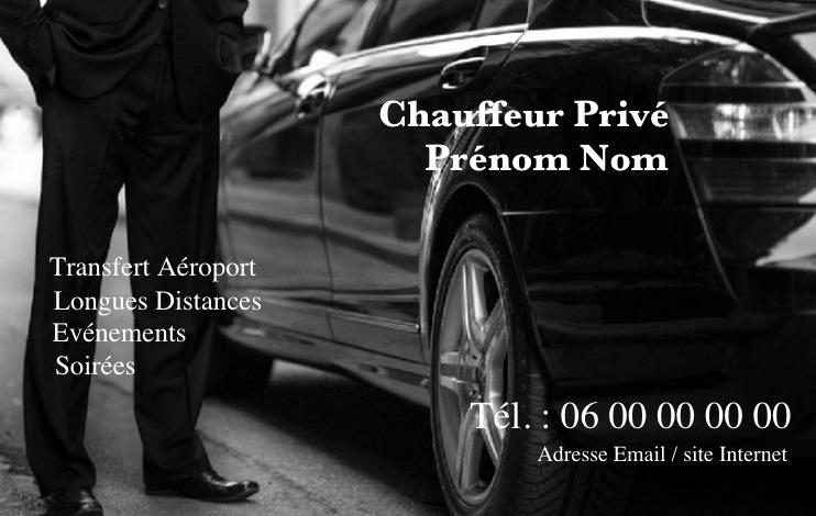 mod u00e8le gratuit carte de visite taxi vtc  u00e0 imprimer