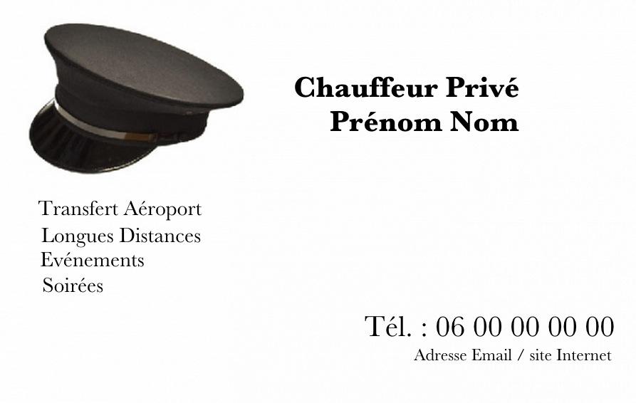carte de visite chauffeur priv u00e9  ou chauffeur de ma u00eetre